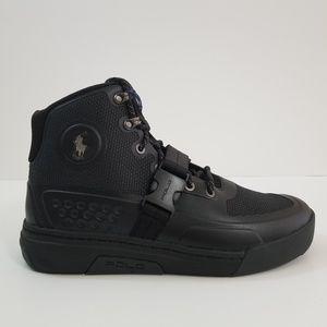 d73c43662d353 Polo Ralph Lauren Jermain Sneaker Shoes Polo Ralph Lauren Ranger200 Black  Size 10 ...